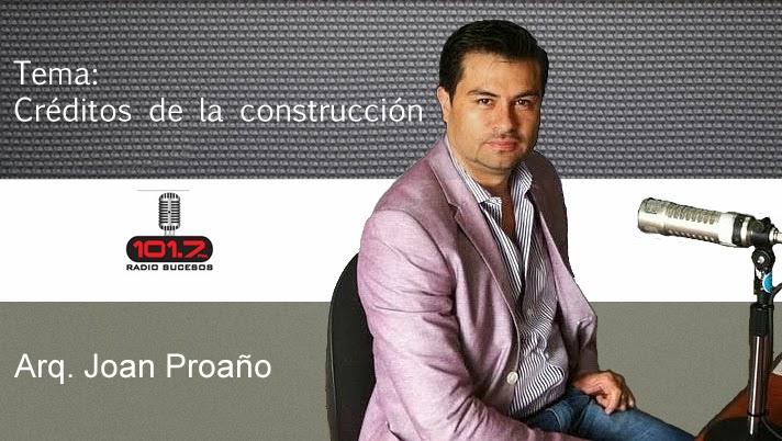 Radio Sucesos – joan Proaño – créditos de la construcción