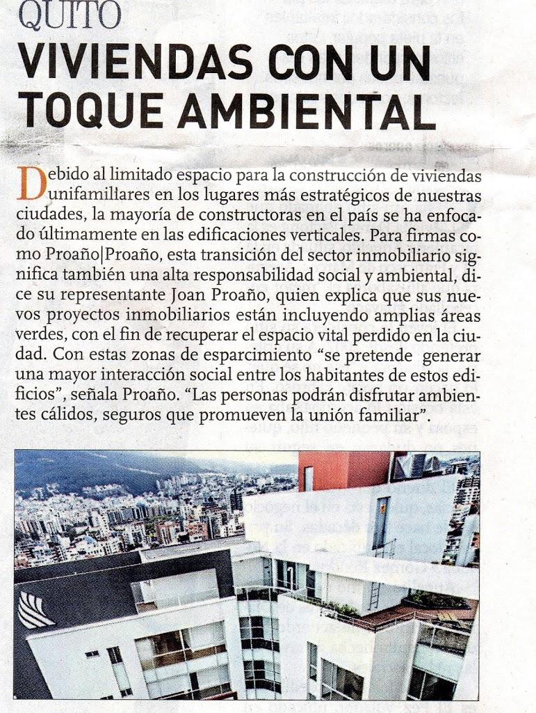 Nota diario Expreso: Viviendas con un toque ambiental